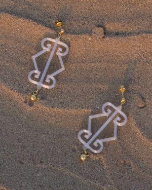 Crystal Logo Earrings