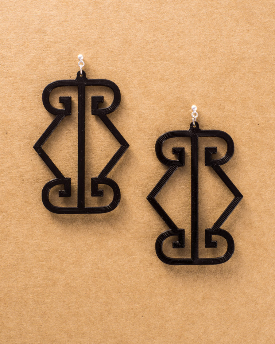 LOGO EARRINGS- LARGE