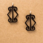 LOGO EARRINGS- SMALL
